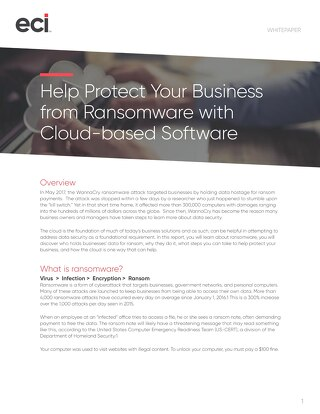 Protect Business from Ransomware