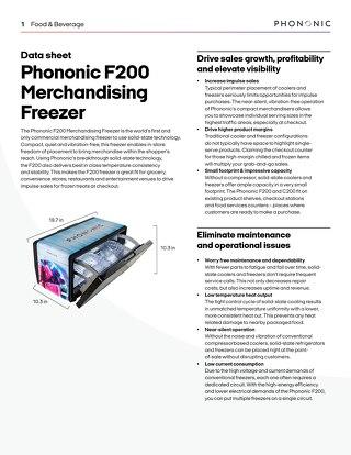 F200 Merchandising Freezer
