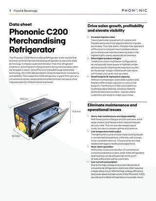 C200 Merchandising Refrigerator