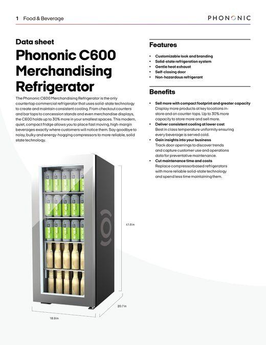 C600 Merchandising Refrigerator