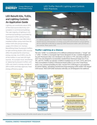 LED Troffer Retrofit Lighting and Controls Best Practices