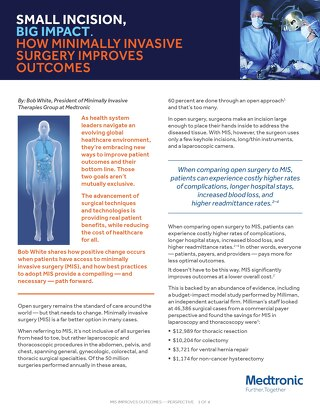 White Paper: Small Incision, Big Impact. How Minimally Invasive Surgery Improves Outcomes
