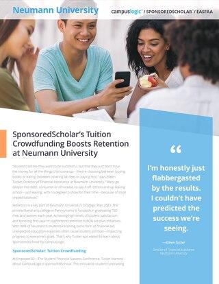 SponsoredScholar's Tuition Crowdfunding Boosts Retention at Neumann University