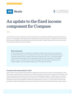 An update to the fixed income component for Compass