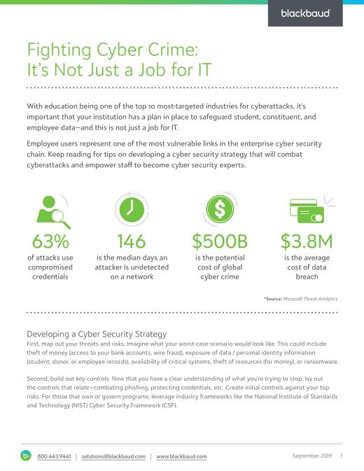 Tip Sheet: Cyber Security