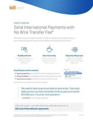International Payments Product Overview