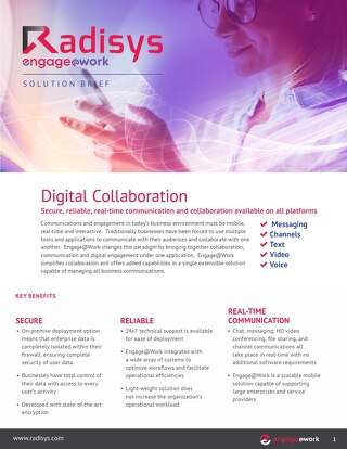 Radisys Engage@Work Collaboration Brief