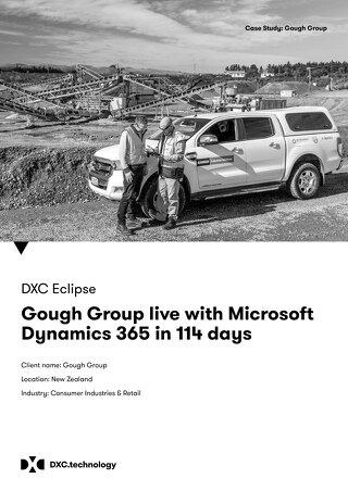 Gough Group Dynamics 365 ERP implementation live in 114 days with DXC!