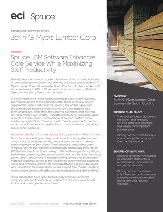 Berlin Myers Lumber Corp Success Story