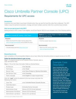 UPC Training Requirements