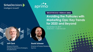 On-Demand Webinar: Avoiding the Potholes With Marketing Ops
