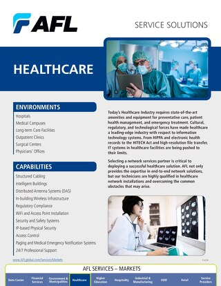 AFL Service Solutions - Healthcare Project Snapshot