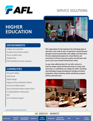 AFL Service Solutions - Higher Education Project Snapshot