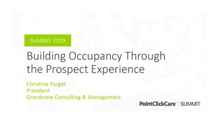 Building Occupancy Through the Prospect Experience