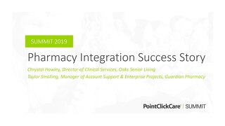 Pharmacy Integration Success Story