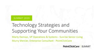 Technology Strategies and Supporting Your Communities