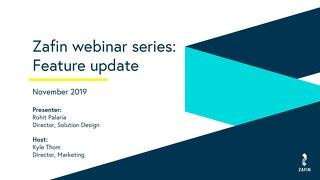 Zafin webinar series - Feature update (November 2019)