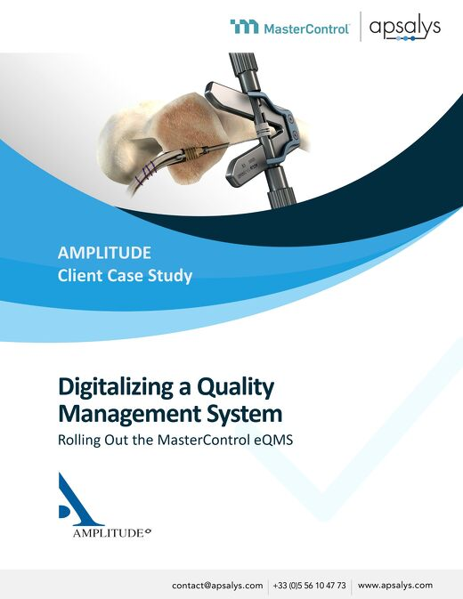 Digitalizing a Quality Management System Rolling Out the MasterControl eQMS