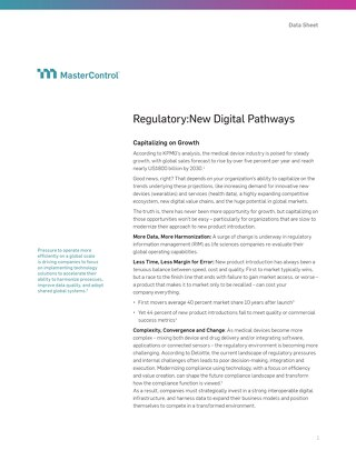 The New Digital Pathway for Regulatory