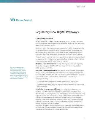 The New Digital Pathway for Regulatory