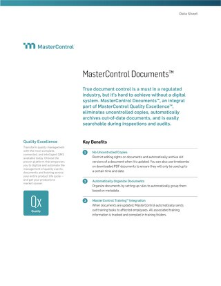 MasterControl Documents™