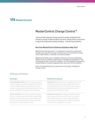 MasterControl Change Control™