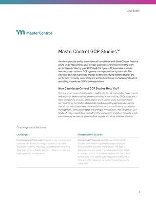 MasterControl GCP Studies™