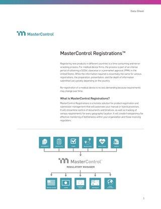 MasterControl Registrations™