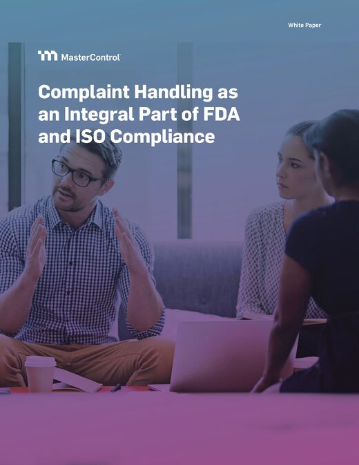 Complaint Handling as an Integral Part of FDA and ISO Compliance
