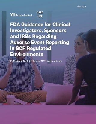 FDA Guidance for Clinical Investigators, Sponsors and IRBs Regarding Adverse Event Reporting in GCP Regulated Environments