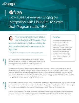 How Fuze Leverages Engagio's Integrations to Scale their Programmatic ABM