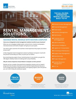 Rental Management Solution