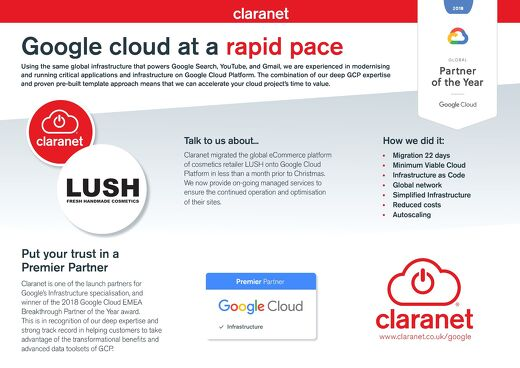 Claranet - Google Cloud Platform