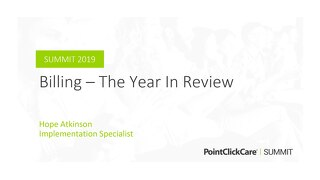 Billing - The Year in Review