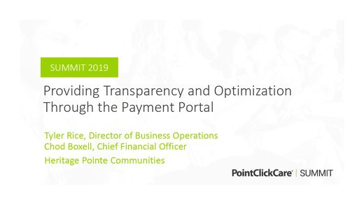 Providing Transparency and Optimization Through the Payment Portal