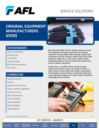 AFL Service Solutions - Original Equipment Manufacturers (OEM)