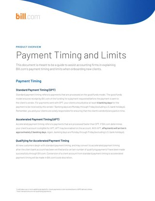 Payment Timing And Limits