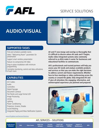 AFL Service Solutions - Audio/Visual