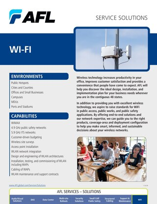 AFL Service Solutions - Wi-Fi