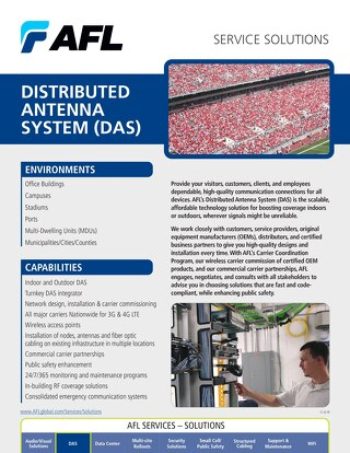AFL Service Solutions - Distributed Antenna System (DAS)