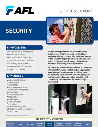 AFL Service Solutions - Security
