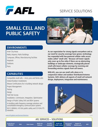 AFL Service Solutions - Small Cell and Public Safety