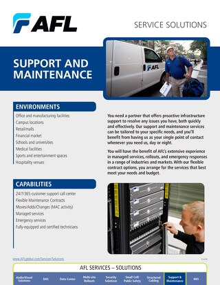 AFL Service Solutions - Support & Maintenance