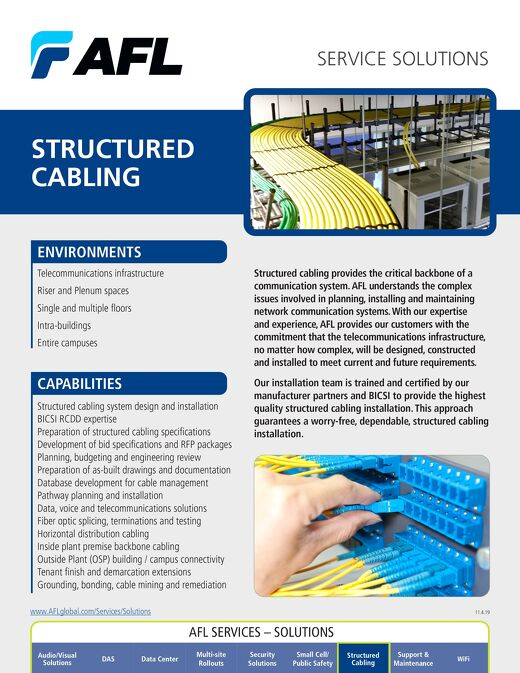 AFL Service Solutions - Structured Cabling