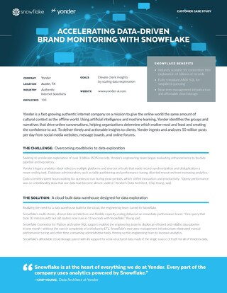 Yonder: Accelerating Data-Driven Brand Monitoring with Snowflake