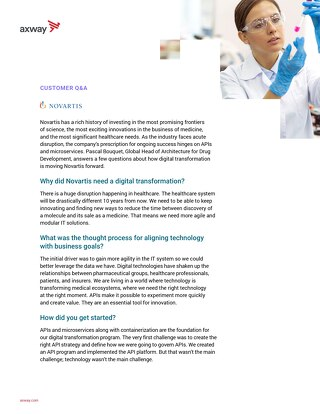Customer Q&A: Novartis