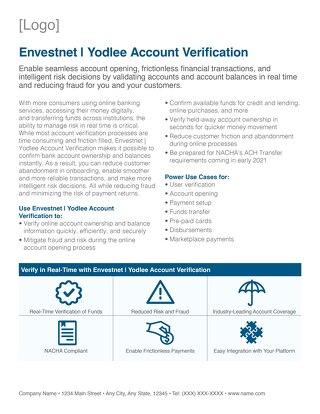 Channel Partner Account Verification Overview