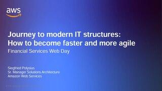 Präsentation: Der Weg von einer traditionellen zu einer modernen, agilen IT Landschaft
