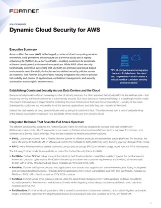 Dynamic Cloud Security for AWS