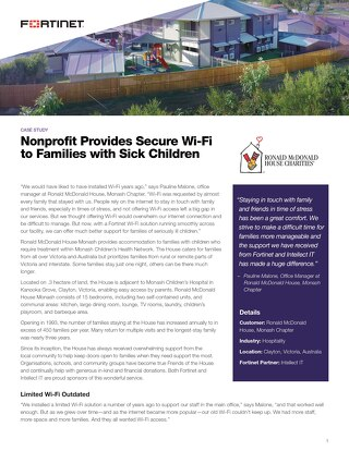 Nonprofit Provides Secure Wi-Fi to Families with Sick Children
